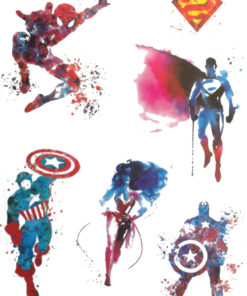 Super Heroes of Flash Tattoos Romania Black Ink Tatuaje temporare