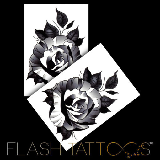 Starring: The Black Rose Flash Tattoos Romania Black Ink Tattoo Tatuaje temorare