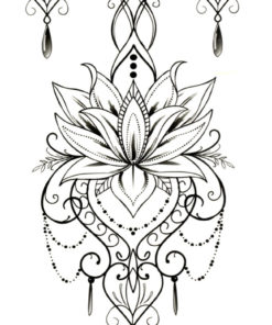 Lotus Flower Mandala Flash Tattoos Romania Tatuaje temporare
