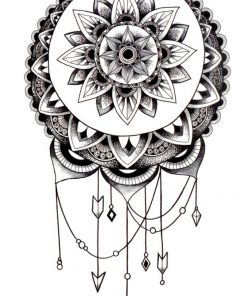 She's a wanderer Mandala Black Ink Flash Tattoos Romania Tatuaj temporar