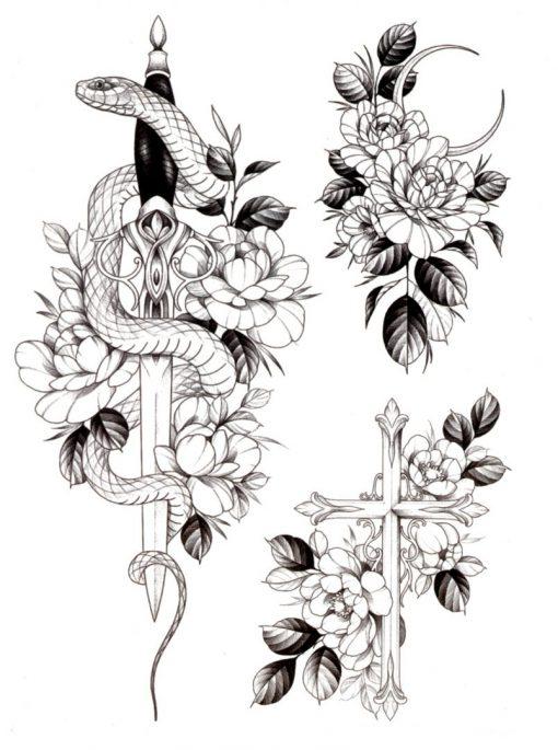 Sinner Black Ink Flash Tattoos Romania Tatuaje temporare
