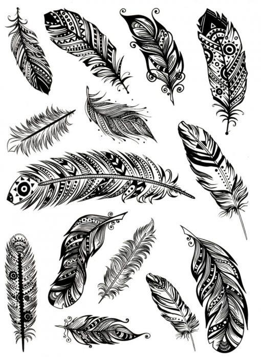 Feather light Flash Tattoos Romania Tatuaj temporar pene