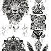 Spirit Animal Black Ink Flash Tattoos Romania Tatuaje temporare