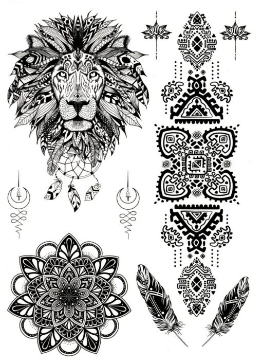 Spirit Animal Black Ink Flash Tattoos Romania Tatuaje temporare