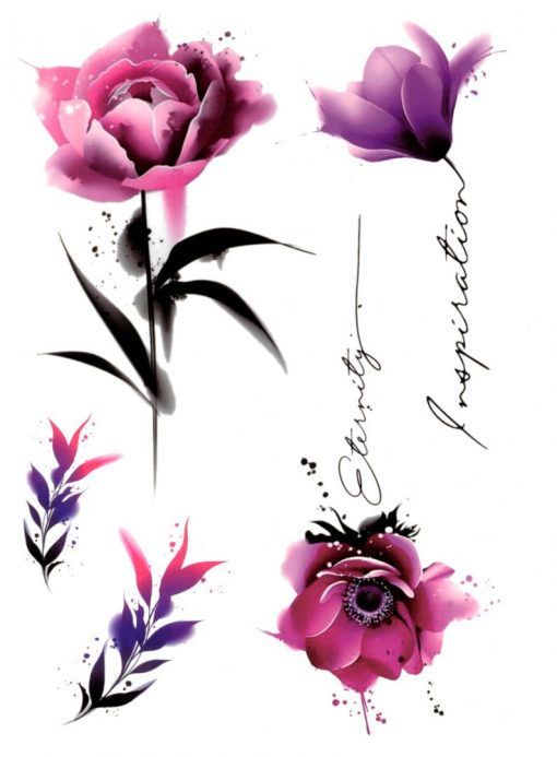 Eternity Flash Tattoos Romania Watercolor Tattoo Tatuaj temporar