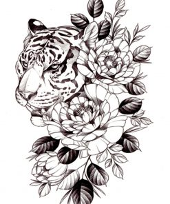 Tigress Flash Tattoos Romania Tatuaje Temporare Black Ink