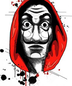 La Casa de Papel Dali Mask Flash Tattoos Romania Black Ink Tatuaj temporar
