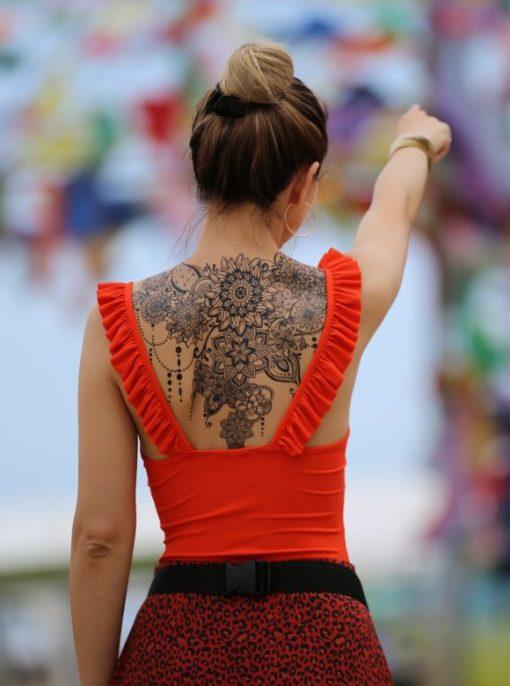 The Birth of Mandalas Flash Tattoos Romania Back Tattoo