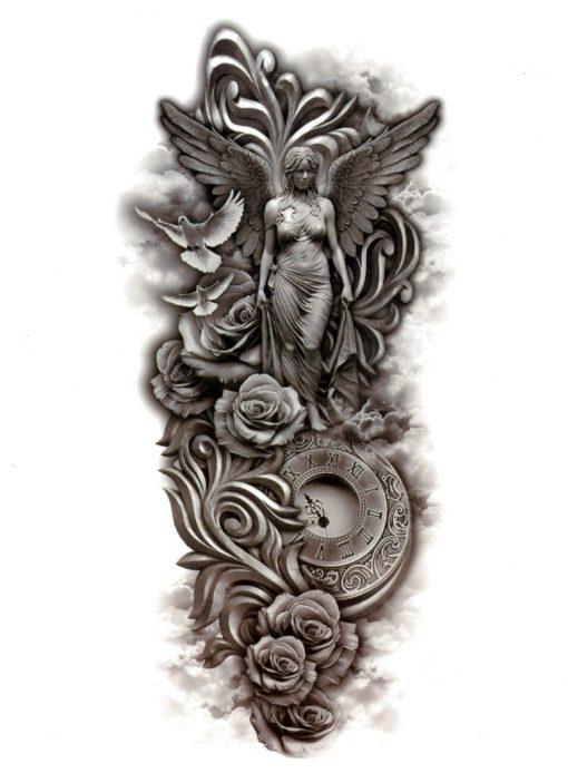 The time has come Angel Flash Tattoos Romania Tatuaje temporare