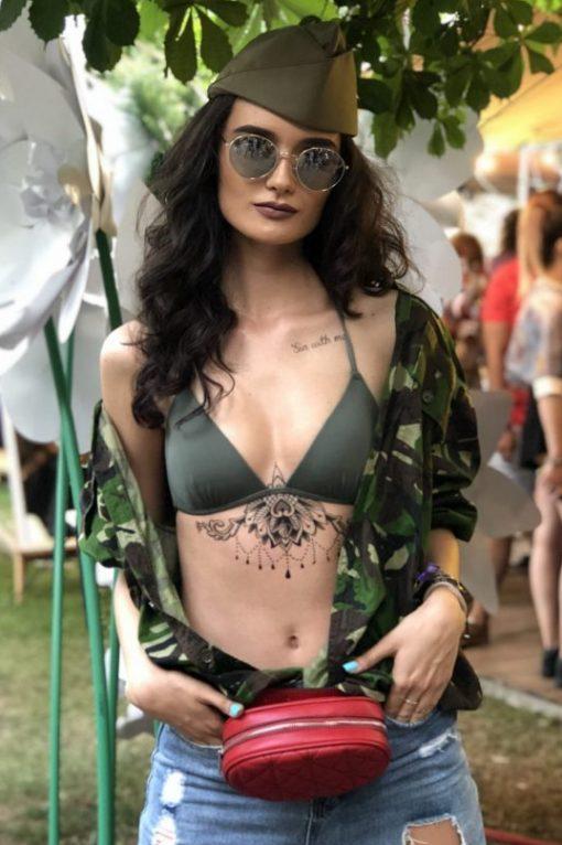Underboob Mandala Tatuaje Temporare Flash Tattoo