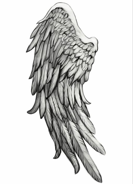 Angels & Demons Wing 1 by Karmen Flash Tattoos Romania Blackink tattoo tatuaje temporare