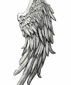 Angels & Demons Wing 2 by Karmen Flash Tattoos Romania Blackink tattoo tatuaje temporare
